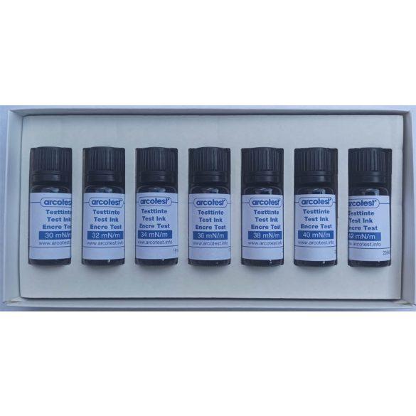 Blue felületi feszültség és tisztaság ellenőrző tinta szett - 7 darab