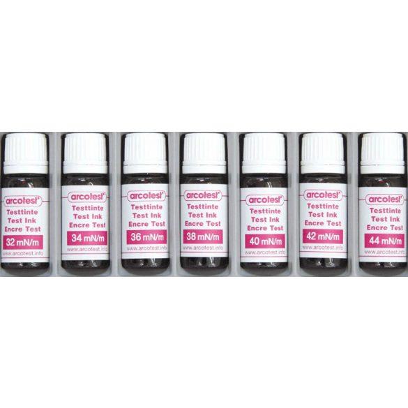 Pink felületi feszültség és tisztaság ellenőrző tinta szett - 7 darab