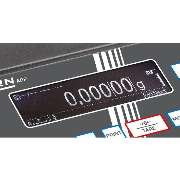 KERN ABP 100-4M hitelesített prémium analitikai labormérleg