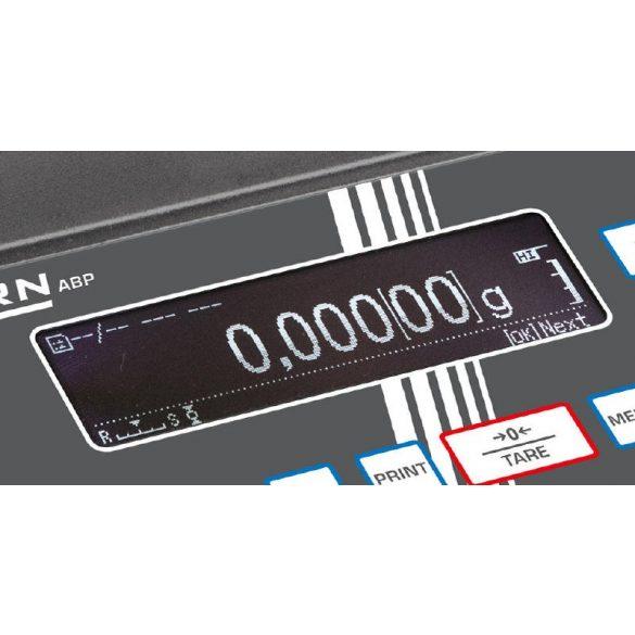 KERN ABP 100-5DM hitelesített prémium analitikai labormérleg
