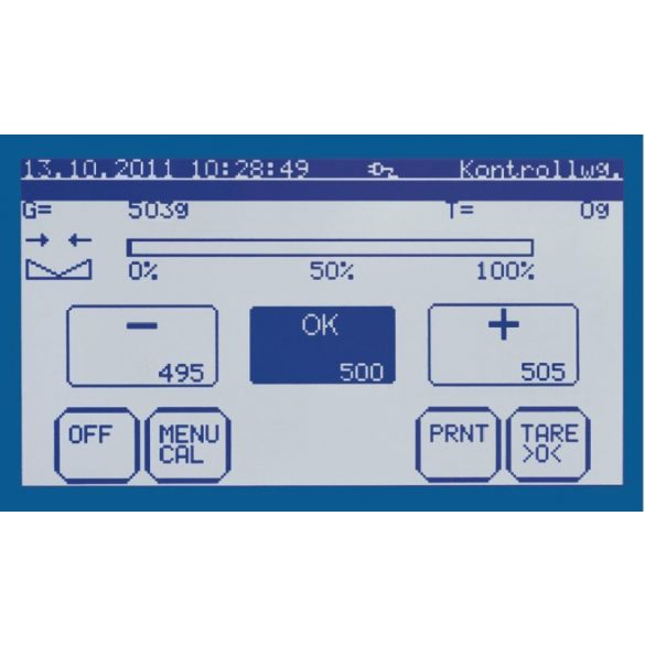 KERN IKT 100K0.5L érintőképernyős platform mérleg