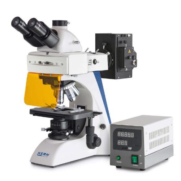 KERN OBN 147 Trinokuláris fluoreszcens mikroszkóp 40x/100x/200x/400x/1000x