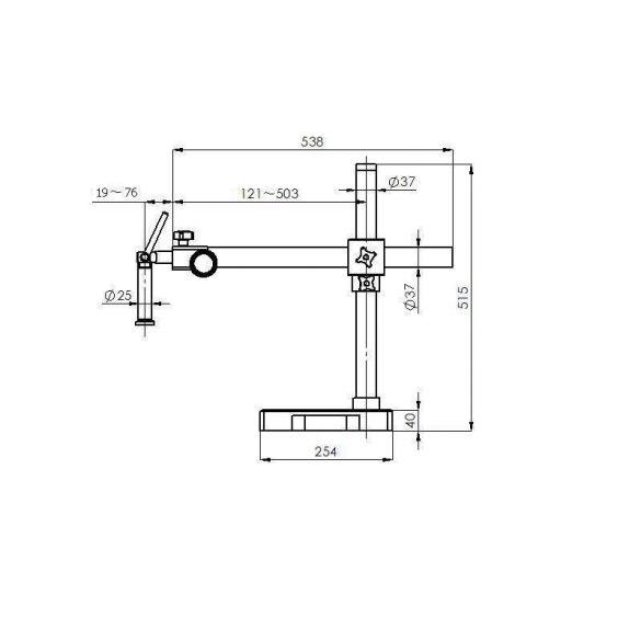 KERN OZM 912 Binokuláris állványos sztereo zoom mikroszkóp 7x-45x