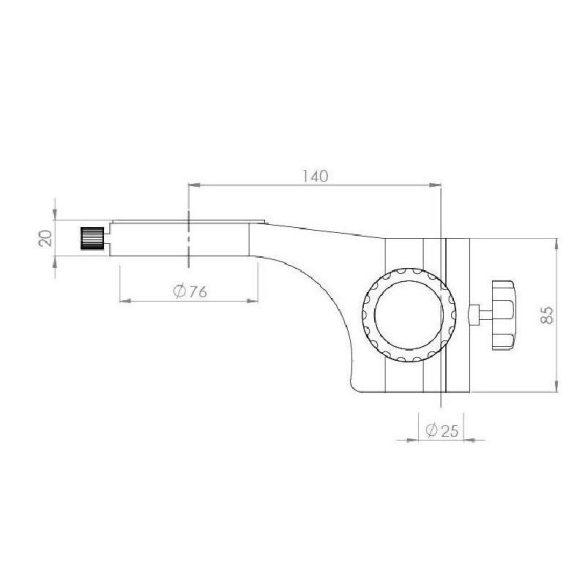 KERN OZM 933 Trinokuláris állványos sztereo zoom mikroszkóp 7x-45x