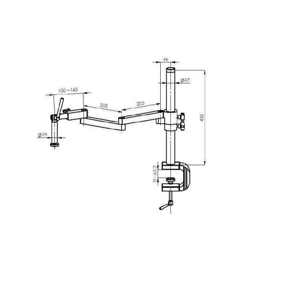 KERN OZM 953 Trinokuláris állványos sztereo zoom mikroszkóp 7x-45x