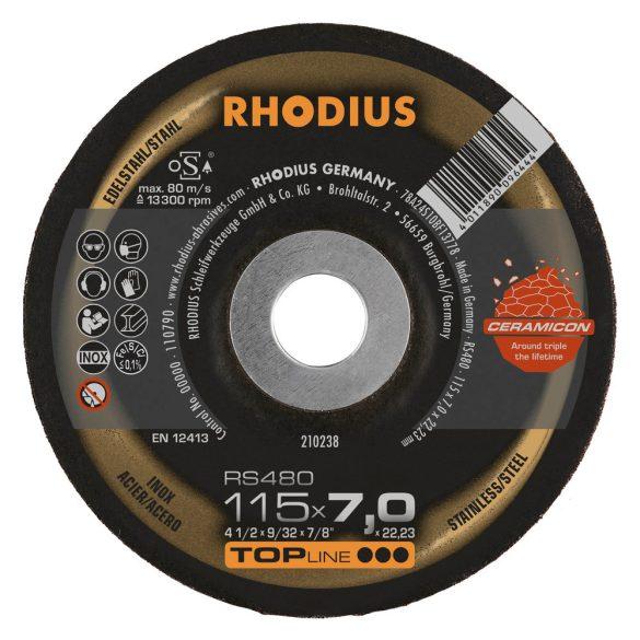 RHODIUS RS480 kerámia nagyolótárcsa 115 mm 25db/csomag