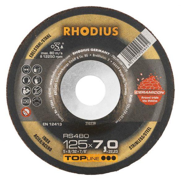 RHODIUS RS480 kerámia nagyolótárcsa 125 mm 25db/csomag