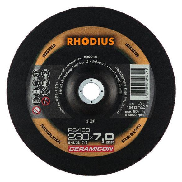RHODIUS RS480 kerámia nagyolótárcsa 230 mm 10db/csomag