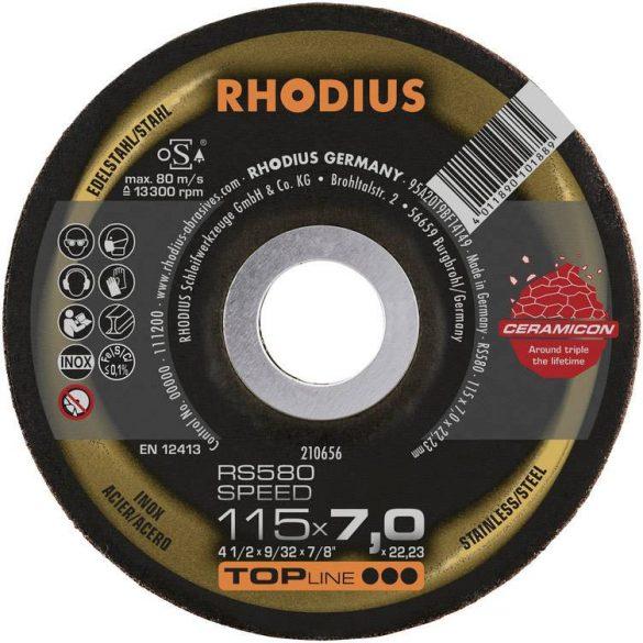 RHODIUS RS580 Speed kerámia nagyolótárcsa 115 mm