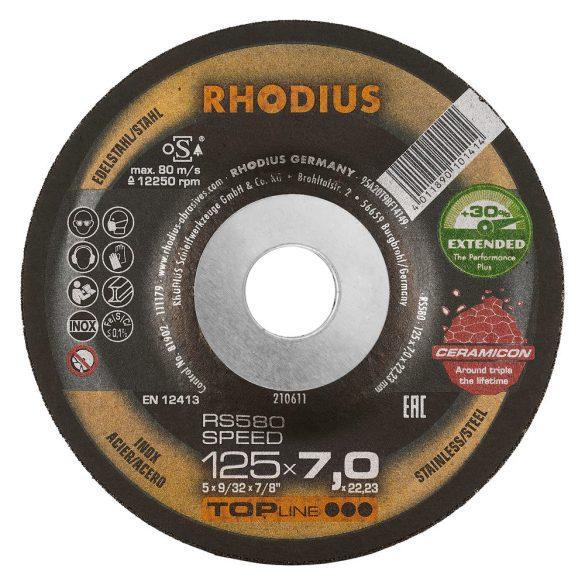 RHODIUS RS580 Speed kerámia nagyolótárcsa 125 mm 25db/csomag
