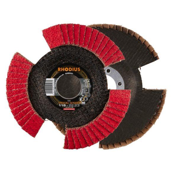 RHODIUS Vision Speed kerámia lamellás csiszolókorong 125 mm 10 db/csomag