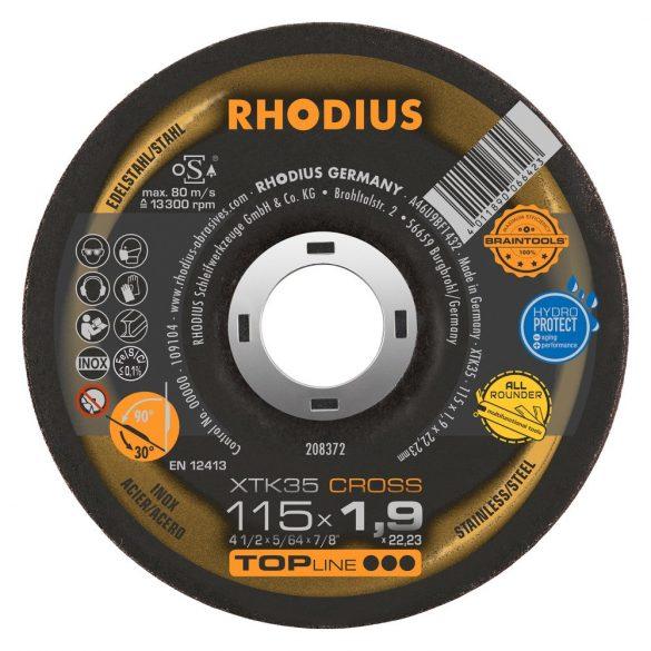 RHODIUS XTK35 CROSS vékony vágótárcsa 115 mm