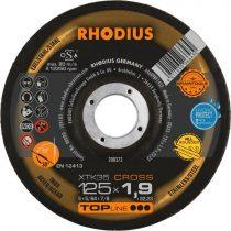RHODIUS XTK35 CROSS vékony vágótárcsa 125 mm - 25 db/csomag