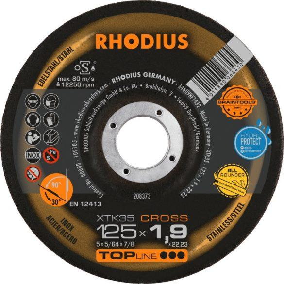 RHODIUS XTK35 CROSS vékony vágótárcsa 125 mm