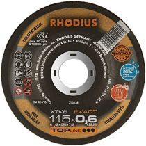 RHODIUS XTK6 EXACT vékony vágótárcsa 115 mm