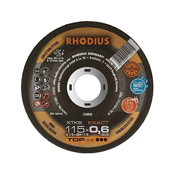RHODIUS XTK6 EXACT vékony vágótárcsa 115 mm - 50 db / csomag