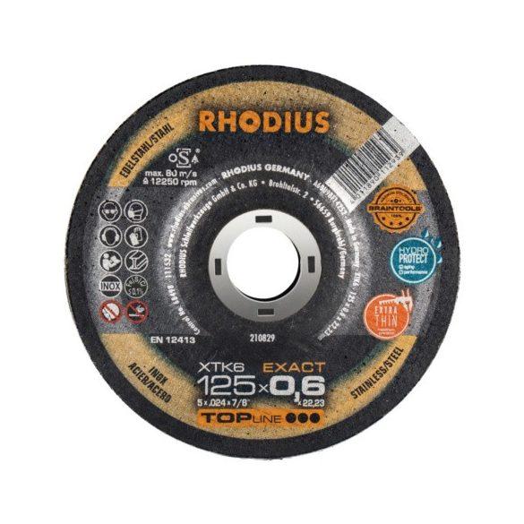 RHODIUS XTK6 EXACT vékony vágótárcsa 125 mm - 50 db / csomag