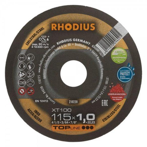 RHODIUS XT 100 extended vékony vágótárcsa 115 x 1 mm  - 25 db/csomag