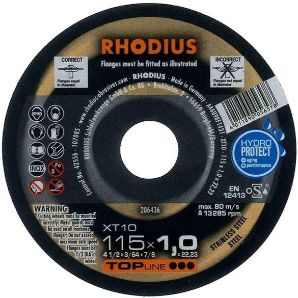 RHODIUS XT 10 vékony vágótárcsa 115 x 1,5 mm  - 50 db/csomag