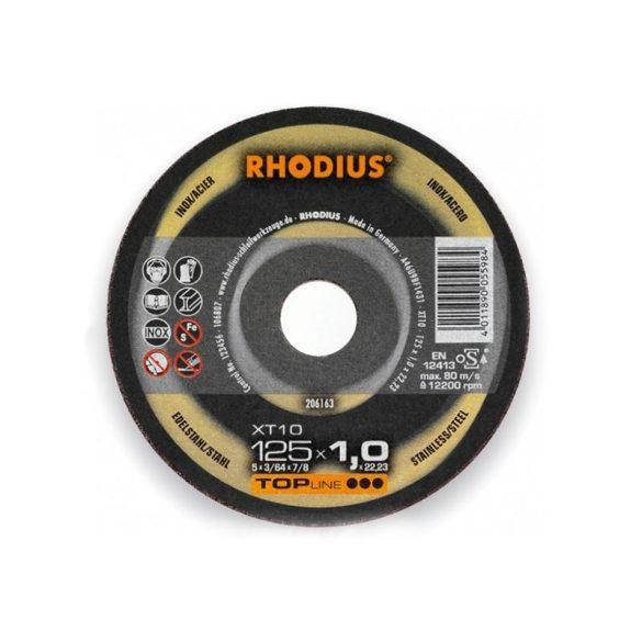 RHODIUS XT 10 vékony vágótárcsa 125 x 1,0 mm